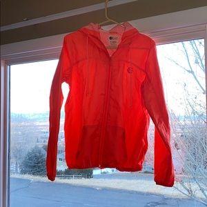 Bright neon Orange billabong jacket rainfly